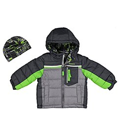 London Fog® Boys' 8-16 Puffer Jacket with Hat