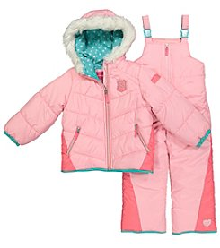 London Fog® Baby Girls' Quilted Patches Jacket