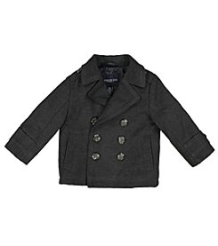 London Fog® Baby Boys' 12M-24M Faux Wool Peacoat