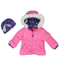 London Fog® Girls' 2T-4T Blossom Puffer Jacket