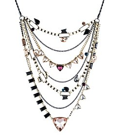 ABS by Allen Schwartz Goldtone Multi-Layered Statement Necklace