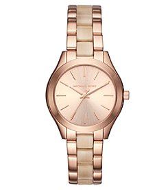 Michael Kors Rose Goldtone & Acetate Mini Slim Runway Watch