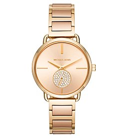 Michael Kors Portia Pave Two-Tone Watch