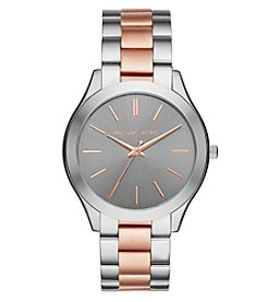 Michael Kors® Two Tone Mini Slim Runway Watch