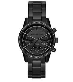 Michael Kors Ritz Pave Black Tone Watch