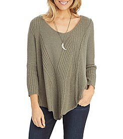 Democracy Mixed Ribbed Sweater