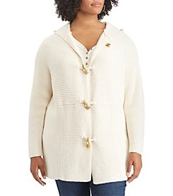 Chaps Plus Size Toggle Sweater