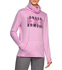 Under Armour Cowl Neck Logo Fleece Pullover