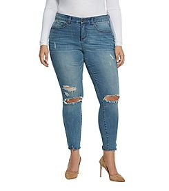 Vintage America Blues Plus Size Skinny Ankle Jeans