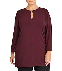 Lauren Ralph Lauren Plus Size Keyhole Bell Sleeve Tunic Top