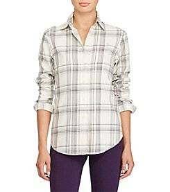 Lauren Ralph Lauren Plaid Button Up Top