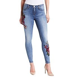 Miracle Jean Embroidered Skinny Jeans