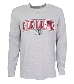 College Concepts NHL Chicago Blackhawks Men's Huddle Henley Top