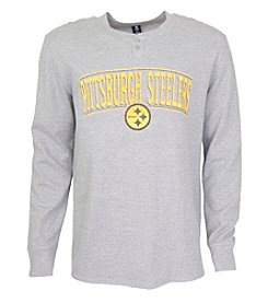 College Concepts NFL® Pittsburgh Steelers Men's Huddle Henley Top