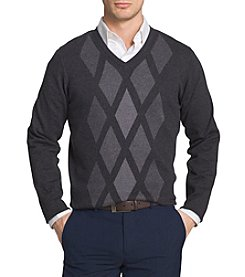 Van Heusen Men's Argyle V-Neck Sweater