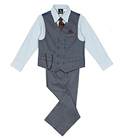 Steve Harvey Boys' 4-18 3 Piece Vest Set with Tie