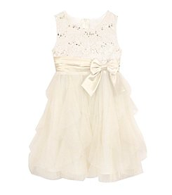 Rare Editions Girls' 2T-4T Sleeveless Lace Bodice Dress