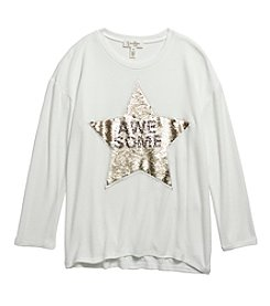 Jessica Simpson Girls' 7-16 Long Sleeve Super Awesome Star High-Low Top