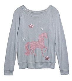 Jessica Simpson Girls' 7-16 Unicorn Sweatshirt