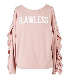 Speechless Girls' 7-16 Awesome Ruffle Sleeve Sweatshirt