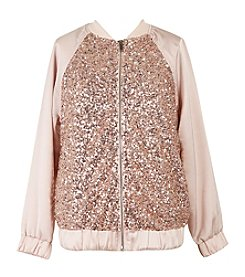 Speechless Girls' 7-16 Sequin Bomber Jacket
