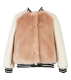 Speechless Girls' 7-16 Fur Varsity Jacket