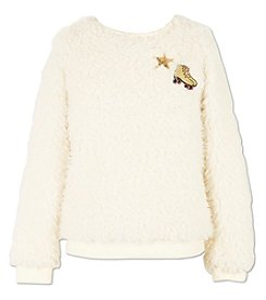 Speechless Girls' 7-16 Woobie Sweatshirt With Patches