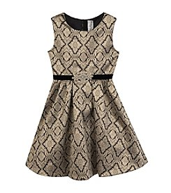 Rare Editions Girls' 7-16 Sleeveless Brocade Dress