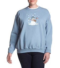Breckenridge Plus Size Frosty And Friends Sweater