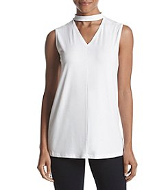 Warrior by Danica Patrick™ High Low Choker Tunic Top