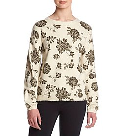 Skylar & Jade Scattered Flower Oversized Pullover