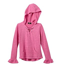 It's Our Time Girls' 7-16 Lace Up Hoodie