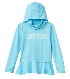 adidas Girls' 2T-6X Long Sleeve On The Go Melange Hoodie