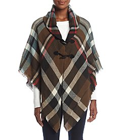 Collection 18 Southwestern Plaid Poncho