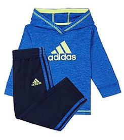 adidas® Baby Boys' 12M-24M Pullover Hoodie and Pant Set