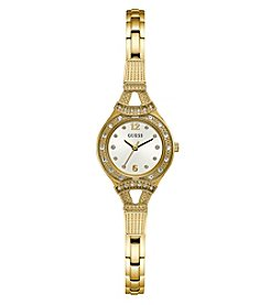 GUESS Women's Roundface Goldtone Bracelet Watch