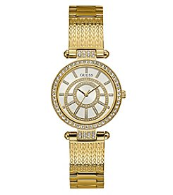 GUESS Women's Roundface Goldtone Watch