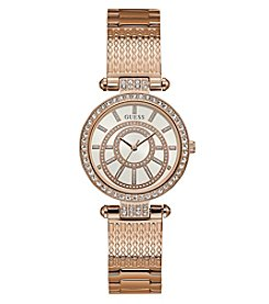 GUESS Women's Roundface Rose Goldtone Watch
