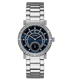 GUESS Women's Stainless Steel Blue Face Watch