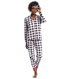 Zoe & Bella @BT Mask Blue Plaid Pajama Set