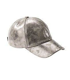 Cejon Metallic Faux Leather Baseball Cap