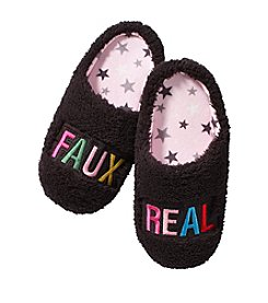 Cuddl Duds Faux Real Slippers