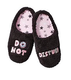 Cuddl Duds Do Not Disturb Slippers
