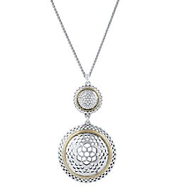 Lucky Brand® Two-Tone Openwork Pendant Necklace
