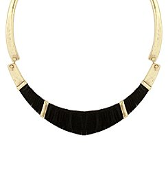 Lucky Brand® Leather Wrapped Choker Necklace