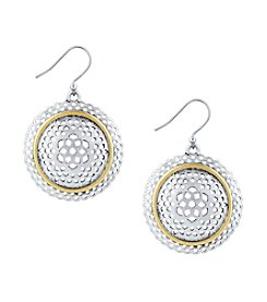 Lucky Brand® Two-Tone Openwork Circle Earrings