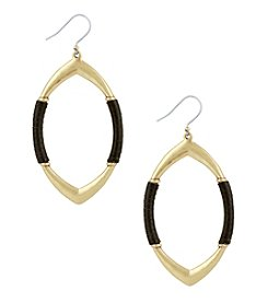 Lucky Brand® Leather-Wrapped Earrings