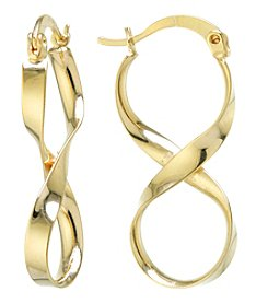 Athra Gold Plated Infinity Drop Earrings