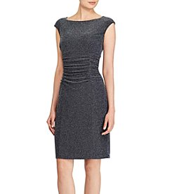 Lauren Ralph Lauren® Ruched Cap-Sleeve Dress