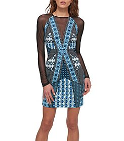 GUESS® Mesh and Print Dress